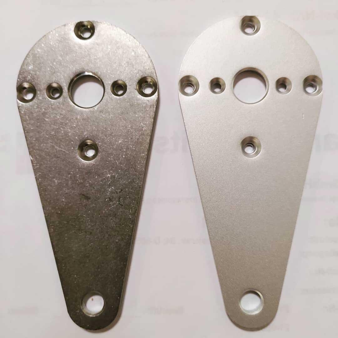 Glasperlen-strahlen-Aluminium-Teile