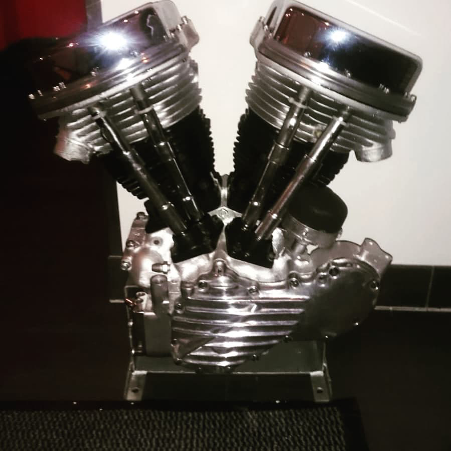 Harley Motor mit der Microstrahltechnik gestrahlt